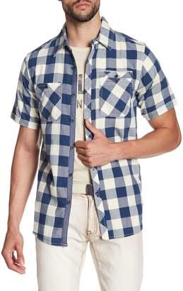 X-Ray Check Short Sleeve Slim Fit Shirt
