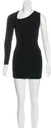 Balmain One-Shoulder Knee-Length Dress