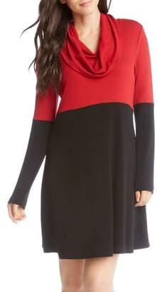 Karen Kane Colorblock Knit A-Line Dress