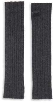 Portolano Ribbed Cashmere Fingerless Gloves