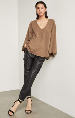 BCBGMAXAZRIA Masha Oversized Cropped Pullover