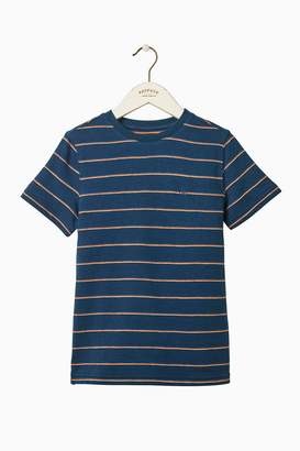 Next Boys FatFace Blue Textured Stripe Tee