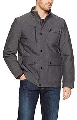 Perry Ellis Men's Four Pocket Diamond Quilted Field Jacket