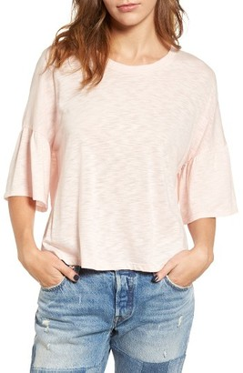 Women's Lush Ruffle Sleeve Tee $35 thestylecure.com