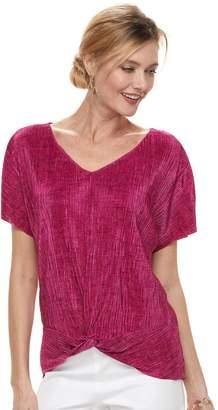 Dana Buchman Women's Twist-Front Textured Top