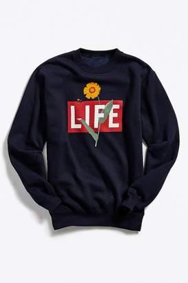 Urban Outfitters Altru Apparel LIFE Floral Logo Crew-Neck Sweatshirt