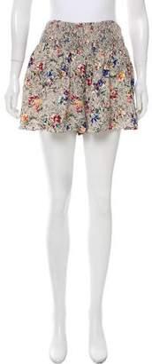 Rebecca Taylor Floral Silk Mini Shorts