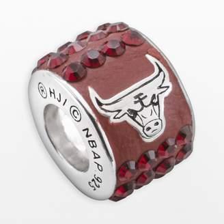 Swarovski Logoart LogoArt Chicago Bulls Sterling Silver Crystal Logo Bead - Made with Crystals