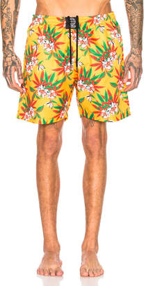 SSS World Corp Quickdry Swimshort in Yellow   FWRD