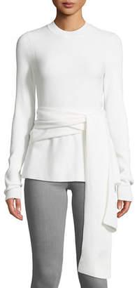 f786827e457b1 Diane von Furstenberg Devin Wrap-Front Merino Wool Sweater