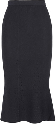 Iris and Ink Pointelle-knit midi skirt $150 thestylecure.com