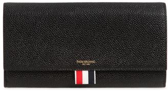 Pebble Leather Continental Wallet $690 thestylecure.com