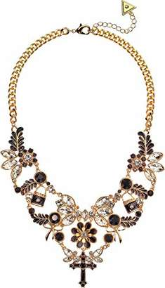 GUESS Gilded Romance Women's Statement Necklace with Logo/Stones