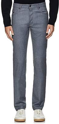 Marco Pescarolo MEN'S CASHMERE FLANNEL SLIM PANTS