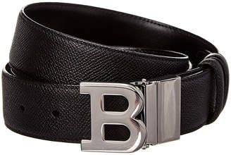 Bally B Buckle Adjustable & Reversible Leather Belt