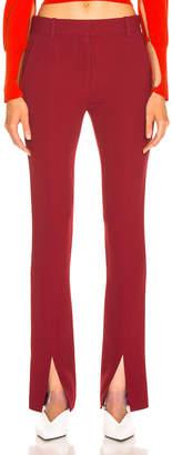 Victoria Beckham Front Split Skinny Trouser in Burgundy   FWRD
