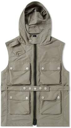 Nigel Cabourn Hooded Multi Pocket Vest