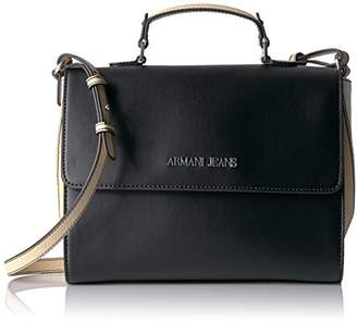 Armani Jeans Top Handle Saffiano Crossbody