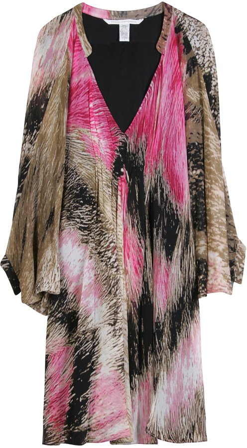 Diane Von Furstenberg Batwing Silk Dress