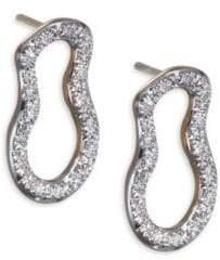 Monica Vinader Diamond& 18K Gold Riva Pod Stud Earrings