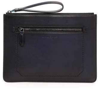 Salvatore Ferragamo Firenze Leather Clutch