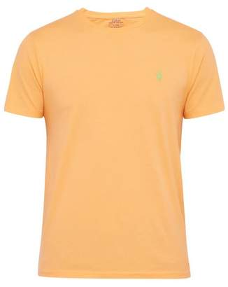 Polo Ralph Lauren Logo Embroidered Cotton Jersey T Shirt - Mens - Orange