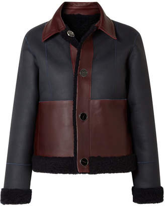 Victoria Beckham Victoria, Reversible Shearling Jacket - Midnight blue