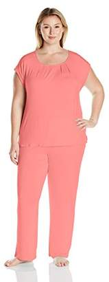 Arabella Women's Plus Size Sleeveless Pajama Set