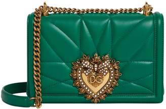 Dolce & Gabbana Mini Quilted Leather Devotion Bag