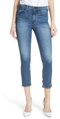 3x1 NYC W3 Distressed Hem Crop Straight Leg Jeans