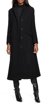 Women's Lauren Ralph Lauren Wool Blend Maxi Coat $400 thestylecure.com