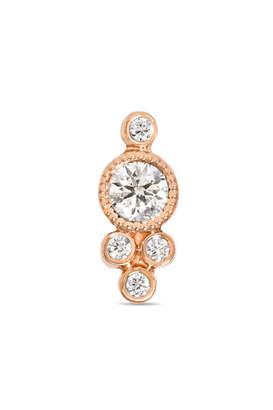 Maria Tash - 18-karat Rose Gold Diamond Earring