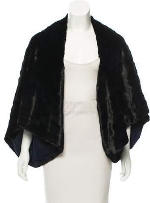 Oscar de la Renta Oversize Fur Shrug w/ Tags Navy Oversize Fur Shrug w/ Tags