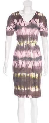 Lela Rose Printed Knee-Length Dress