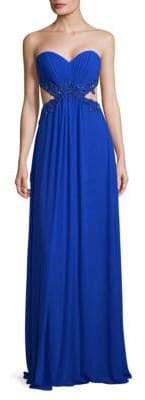 La Femme Elegant Floor-Length Gown
