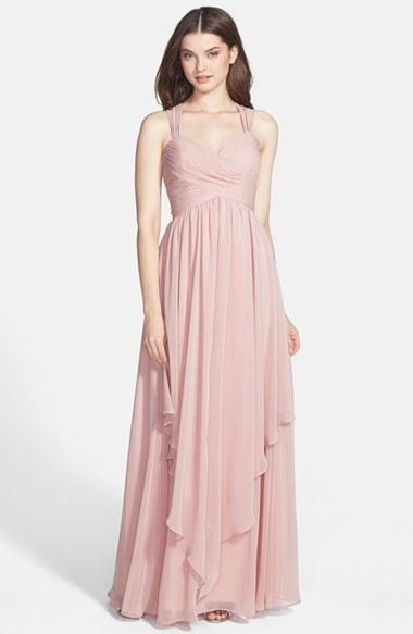 Eliza J Crisscross Bodice Gown