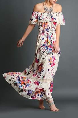 Umgee USA Floral Print Maxi
