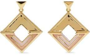Noir Hint Of Glint 14-Karat Gold-Plated Acetate Earrings