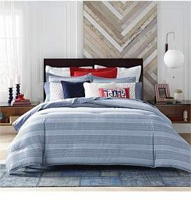 Tommy Hilfiger William Stripe Quilt Cover Set Queen Bed