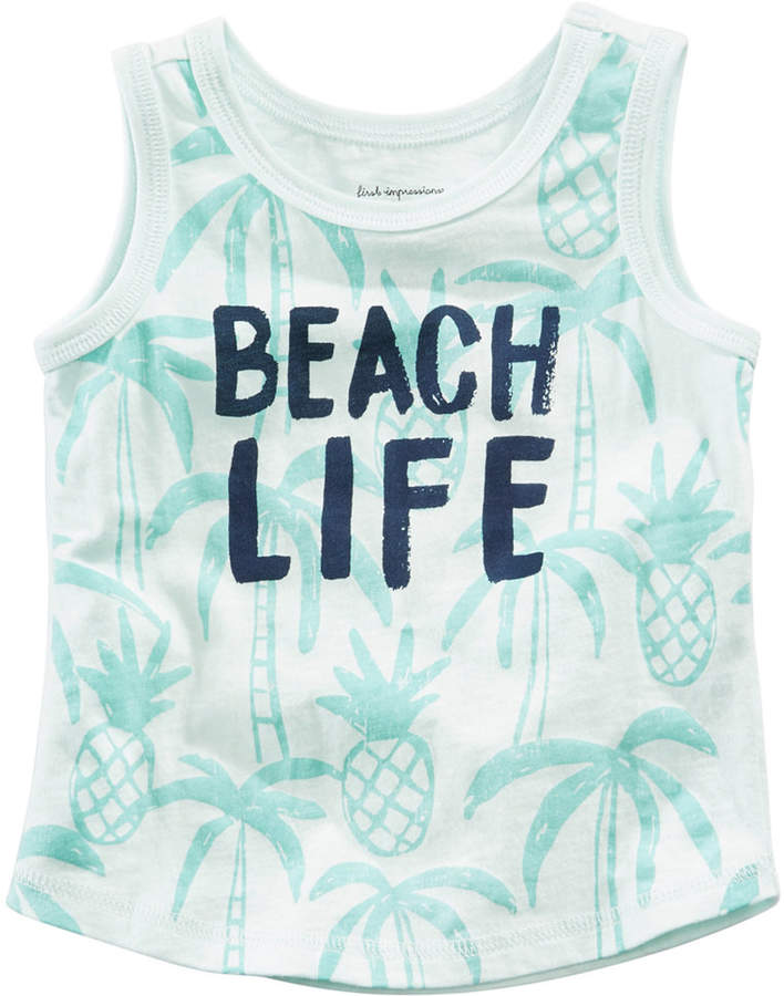 Beach Life-Print Cotton Tank Top, Baby Boys, Created for Macy's