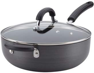 Circulon Hard Anodized Nonstick Covered Chef Pan with Helper Handle, 6-Quart