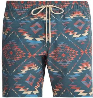 Faherty Chankillo Aztec-print swim shorts