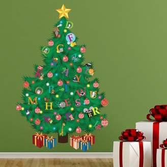 The Holiday Aisle Traditional Kids Alphabet Christmas Tree Wall Decal
