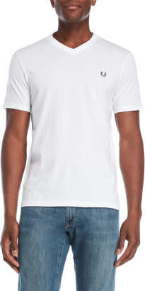 Fred Perry White V-Neck Tee