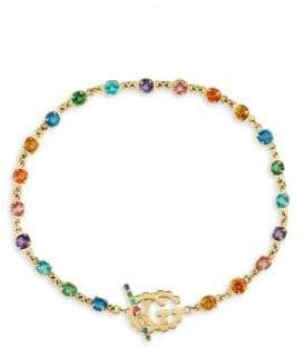 Gucci GG Running 18K Yellow Gold Multi-Stone Bracelet
