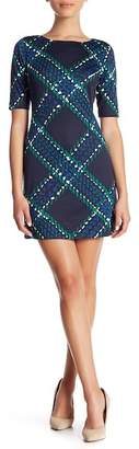 Eliza J Patterned Shift Dress (Petite)