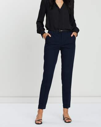 Mng Straight Fit Belt Trousers
