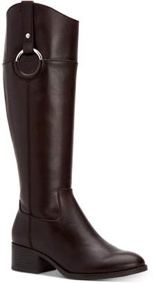 Alfani Women Bexleyy Riding Leather Boots, Women Shoes