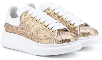 Alexander McQueen Glitter platform leather sneakers