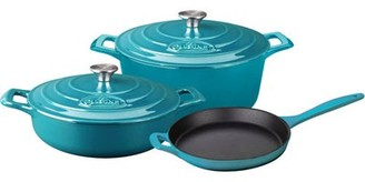 La Cuisine PRO 5-Piece Enameled Cast Iron Cookware Set, Round Casserole